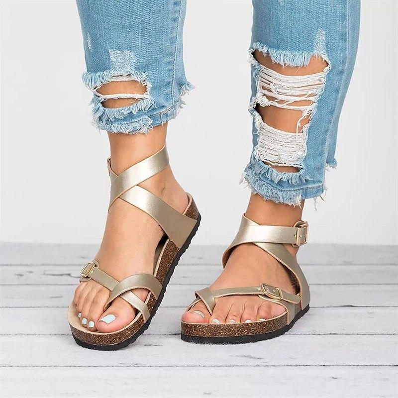Begeistert Sandalen Frauen 2019 Sommer Schuhe Frauen Flache Sandalen Für Strand Schuhe Breathble Plus Größe Design Mit Flachem Boden Sandalen