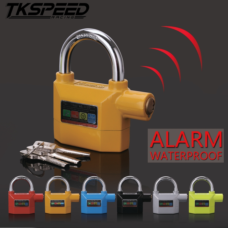 Waterproof Motorcycle Alarm Lock Anti-theft Moto Bike Home Warning Security Disc Lock For Theft Protection Alarma Moto