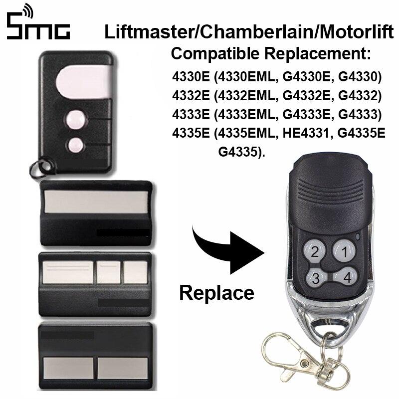 Compatible Remote Control Chamberlain Liftmaster 4335E 4330E 4333E 4332E Rolling Code Remote Transmitter Garage Door Control
