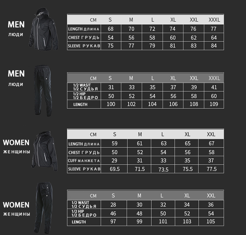 Image 5 - 2019 VANSYDICAL Sweat Suit Womens Mens Sports Running Suits Fitness Lose Weight 2pcs Gym Sportswear Fitness Track Training Suits-in Running Sets from Sports & Entertainment on AliExpress