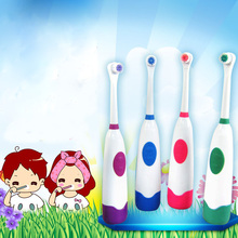 1set Electric Toothbrush 2 Brush Heads for Children with Care Rotation Vitality Cartoon Oral Health Soft Tooth Brush for Kids цена и фото