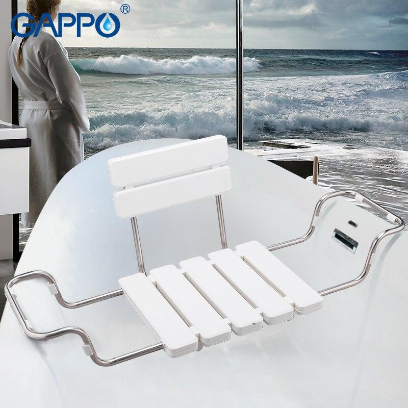 GAPPO Bathroom Chairs & Stools white bathtub shower seat ...
