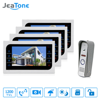 JeaTone Video Doorphone Intercom Doorbell Camera System Touch Button Indoor Monitor 7 Home Security Door Access