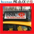 Leeman P5 P5mm Alto Brilho superior conduziu a luz Sem Fio 3G Controlada LED Táxi Sinal/LED Sinal de Telhado de Táxi/Taxi Top LEVOU Exibição