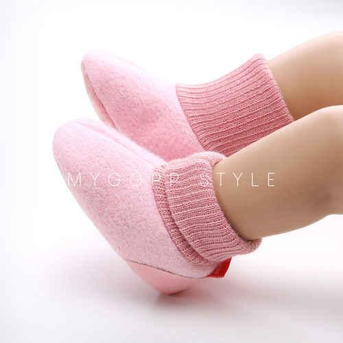 Зимние теплые тапочки для новорожденных девочек и мальчиков; мягкая домашняя обувь для малышей 0-18 месяцев