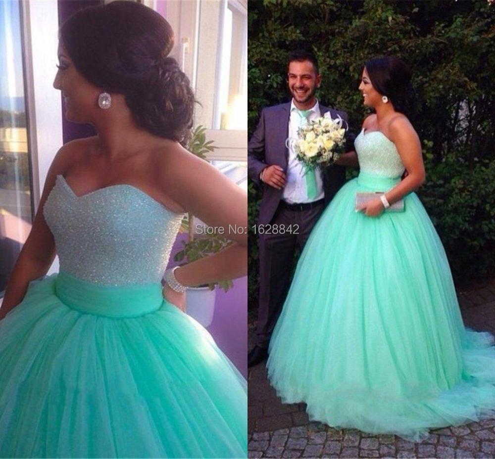 Green plus size evening dress ball gown long evening dresses 2016 ...