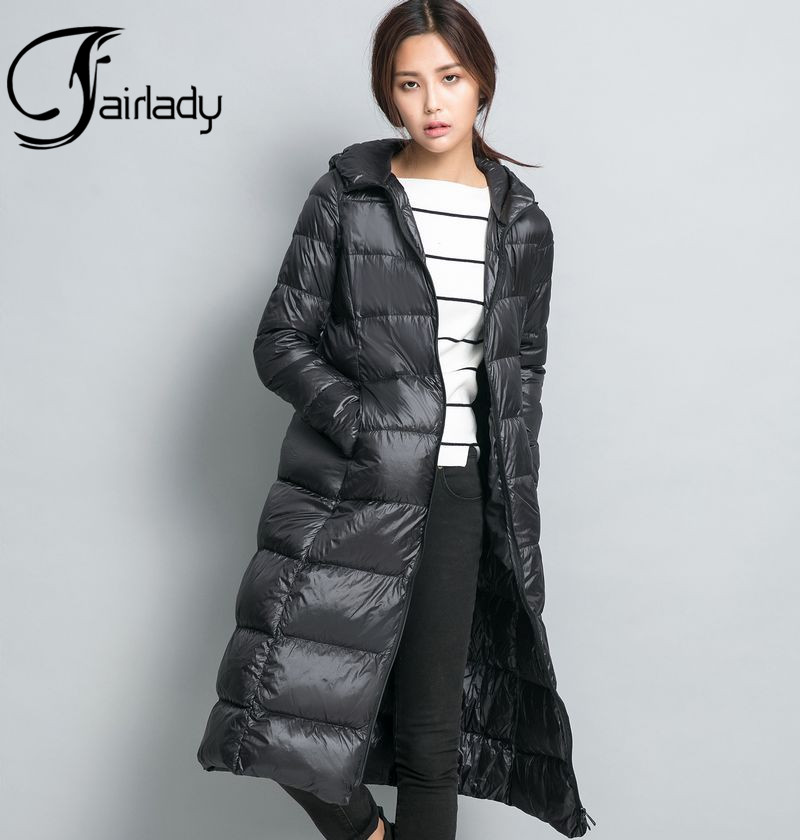 f2f7de9b88fc Sports & Outdoors Lovache Hooded Down Jacket Women Winter Warm Long  Sections Down Coat Clothing