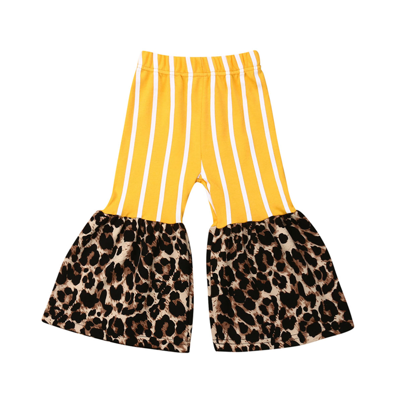 Baby Pants Toddler Kids Baby Girl Clothes Striped Leopard Bottoms Pants Leggings Trousers Summer Cute Wear 1pcs/set