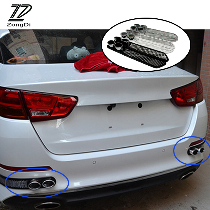 ZD 2X Car 3D Cool Auto carbon <font><b>Exhaust</b></font> Stickers for Fiat <font><b>VW</b></font> Polo <font><b>Golf</b></font> MK4 <font><b>4</b></font> MK7 Touran T5 Bora Skoda Rapid Fabia Yeti Superb 2017 image