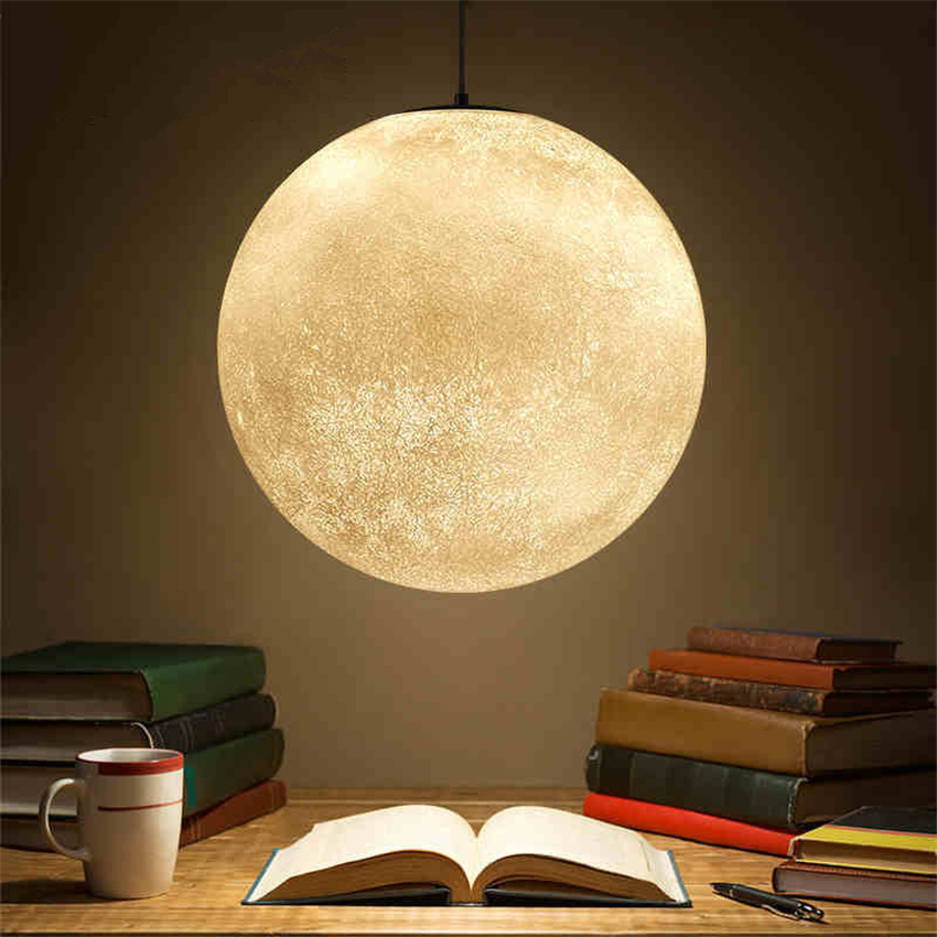Modern Lights Moon Mars Lamp Ball Pendant Lights Resin Lamp Restaurant Bedroom Living Room Dining Room Decoration Lighting avize modern brief fashion round ball crystal lamp pendant lamp restaurant lamp bedroom lamp living room lights