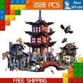 2028 шт. Бела 10427 Храм Airjitzu Building Blocks Ниндзя Модель Кирпичи Самые Большие Подарки Игрушки Совместимость с Lego