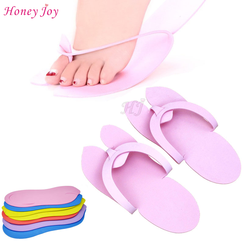 12pairs/lot Anti-skidding Disposable Spa Pedicure Slippers Comfortable Convenient Nail Art Salon Flip Flop Foot 29.5*11.5cm EVA