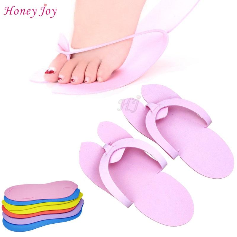 12pairs/lot Anti-skidding Disposable Spa Pedicure Slippers Comfortable Convenient Nail Art Salon Flip Flop Foot 29.5*11.5cm EVA