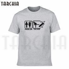 TARCHIA 2016 new summer funny problem solved t-shirt cotton tops tees men short sleeve boy casual homme tshirt t plus fashion