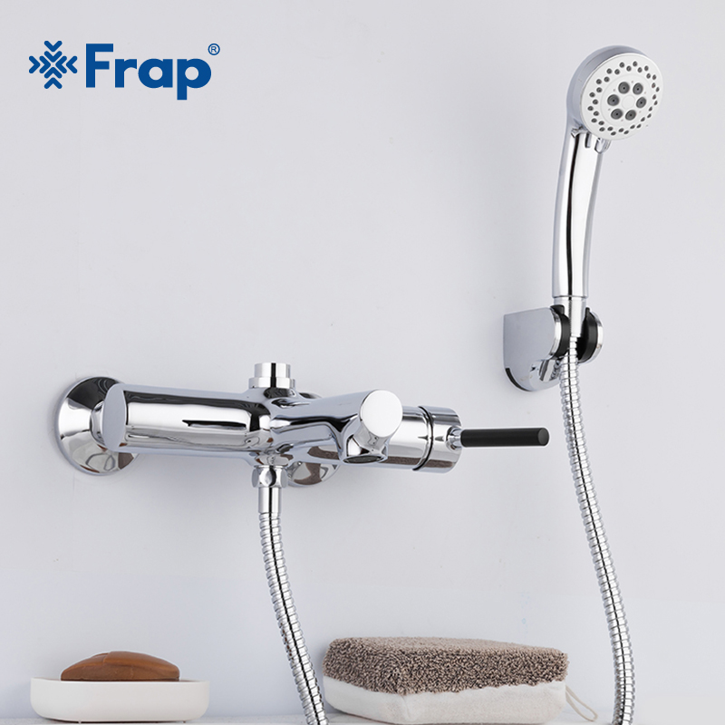 Frap Wall Mounted Shower Bathroom Faucet Cold & Hot Water Mixer Bathtub Faucet Bathroom Tap Robinet Banheira Shower Mixer F3244 frap wall mounted shower bathroom faucet cold