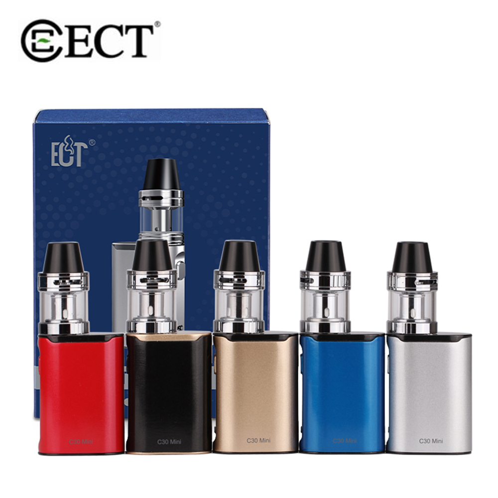 Original ECT C30 Mini 30W Starter Kit Electronic Cigarette 1200mAh Built-in Battery 510 Thread 2ml Atomizer Adjustable Airflow