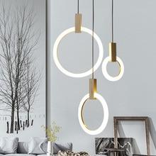 hot deal buy villa stairs led pendant lights acrylic circles lustre pendant light wood pendant lamp led drop light hang lamp suspend lamp