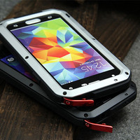 For Samsung Galaxy S5 I9600 Original Case Dirt Waterproof Love Mei Metal Aluminum Powerful Phone Cases