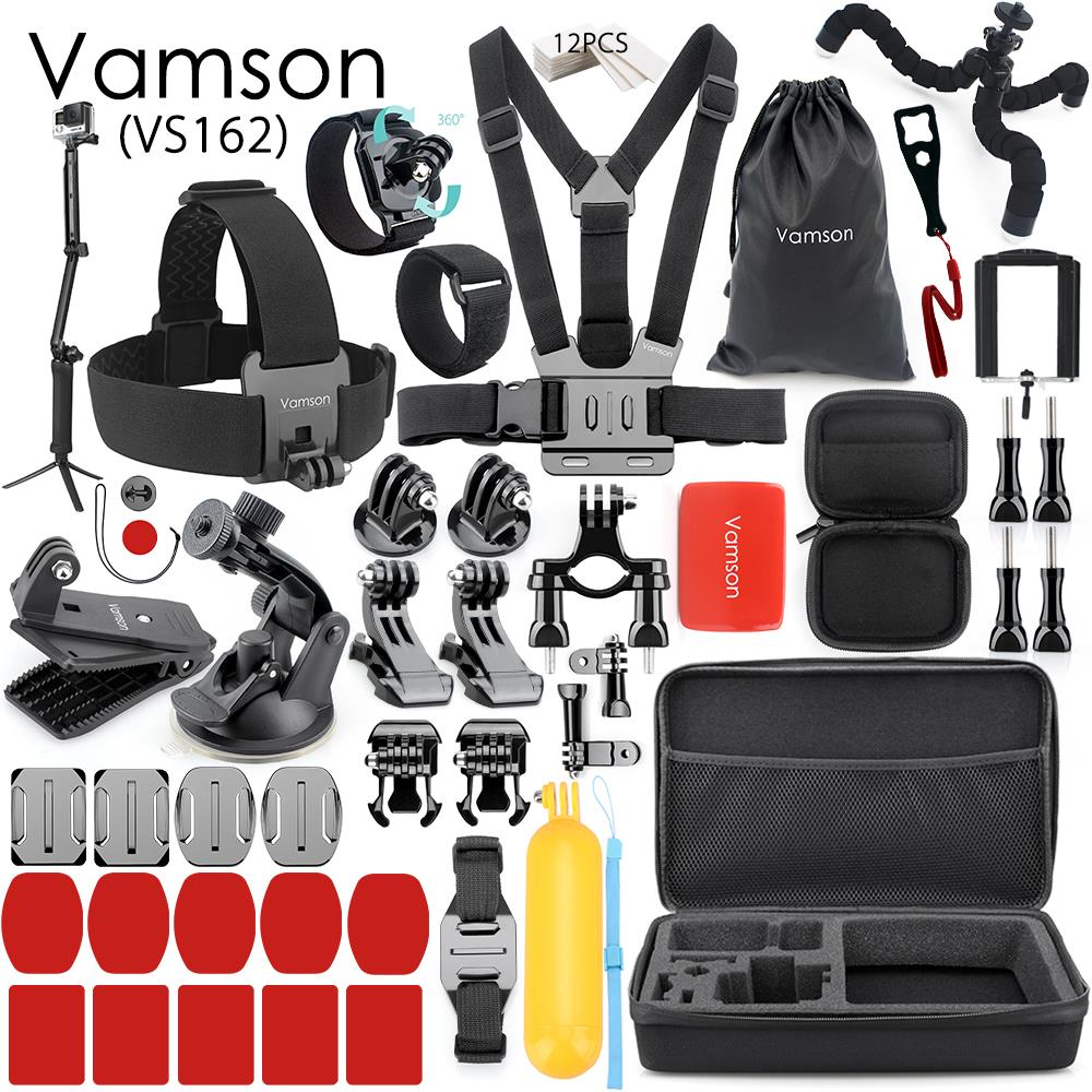 Vamson pour Gopro accessoires Set Kit pour Gopro Hero 7 6 5 4 sangle de poitrine adaptateur clé trépied pour Xiaomi pour Yi 4 K caméra VS162