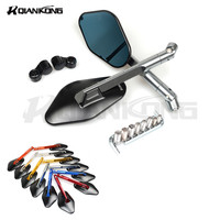 CNC Aluminum Paired Motorcycle Rearview Mirrors Universal Side Mirrors FOR BMW F800GS HP4 K1600GT R1200GS S1000RR