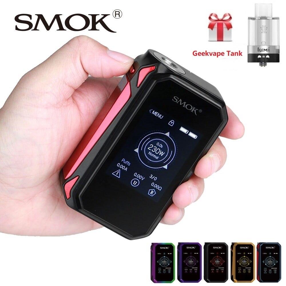 100% D'origine SMOK G-priv 2 230 W écran tactile boîte de tc MOD N ° 18650 Batterie Mod Boîte Smok Mod G priv 2/G priv 2 vs Glisser 2/Luxe Mod