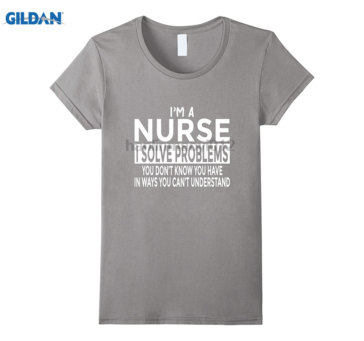 GILDAN Funny Nurse T-Shirt Solve Problems You Cant Understand The latest funny carnival music T-shirt dress T-shirt