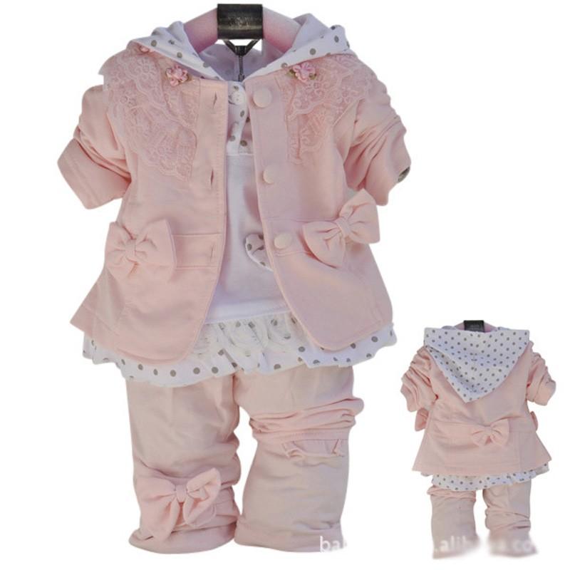 c0cd7b15b42a10 2016 nova meninas flores 3 pcs conjuntos de roupas primavera outono  crianças casaco + camisa + calças padrão menina de manga comprida conjunto  de ...