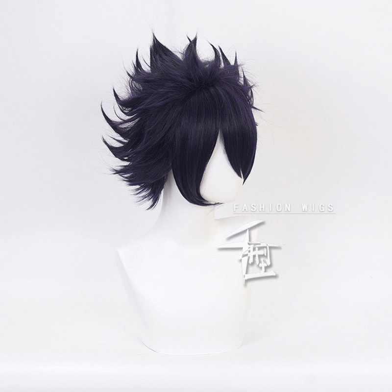 私のヒーロー学界僕なしヒロ Akademia Amajiki 玉木ダークブルーショートコスプレウィッグ人工毛 Perucas + かつらキャップ
