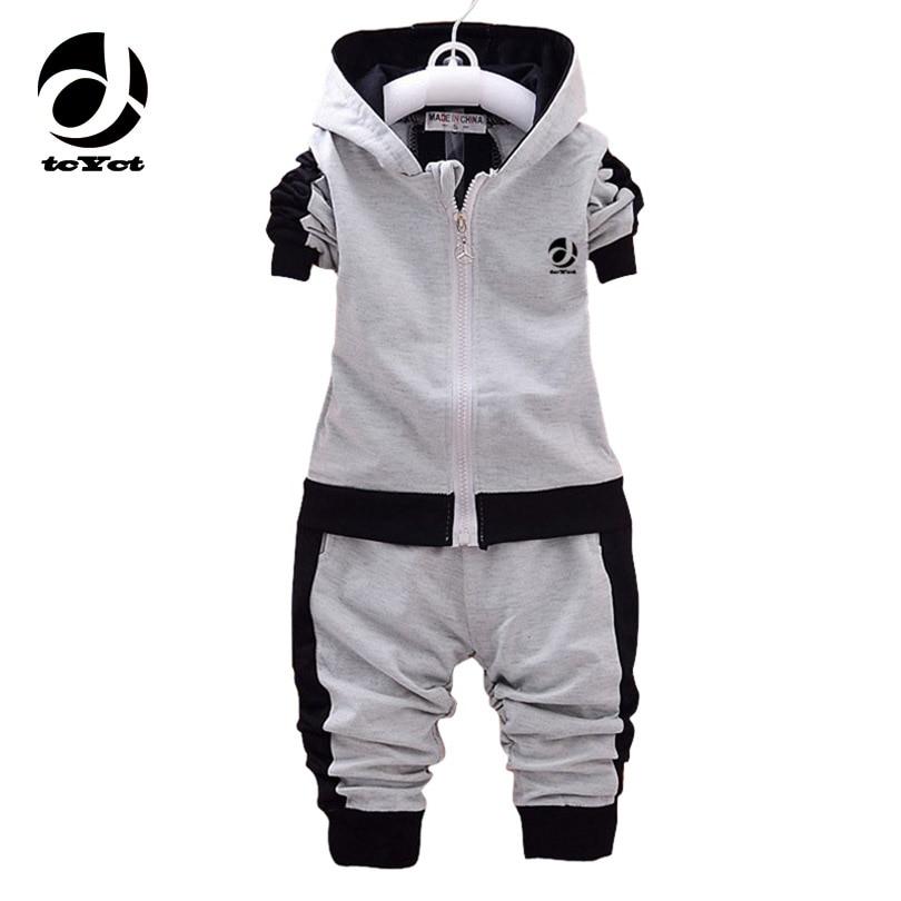 Girls Autumn Clothing Set New Children Cartoon Long Sleeve Hooded Sweatshirts+Pants 2PCS Warm Sport Kids Clothes Suit