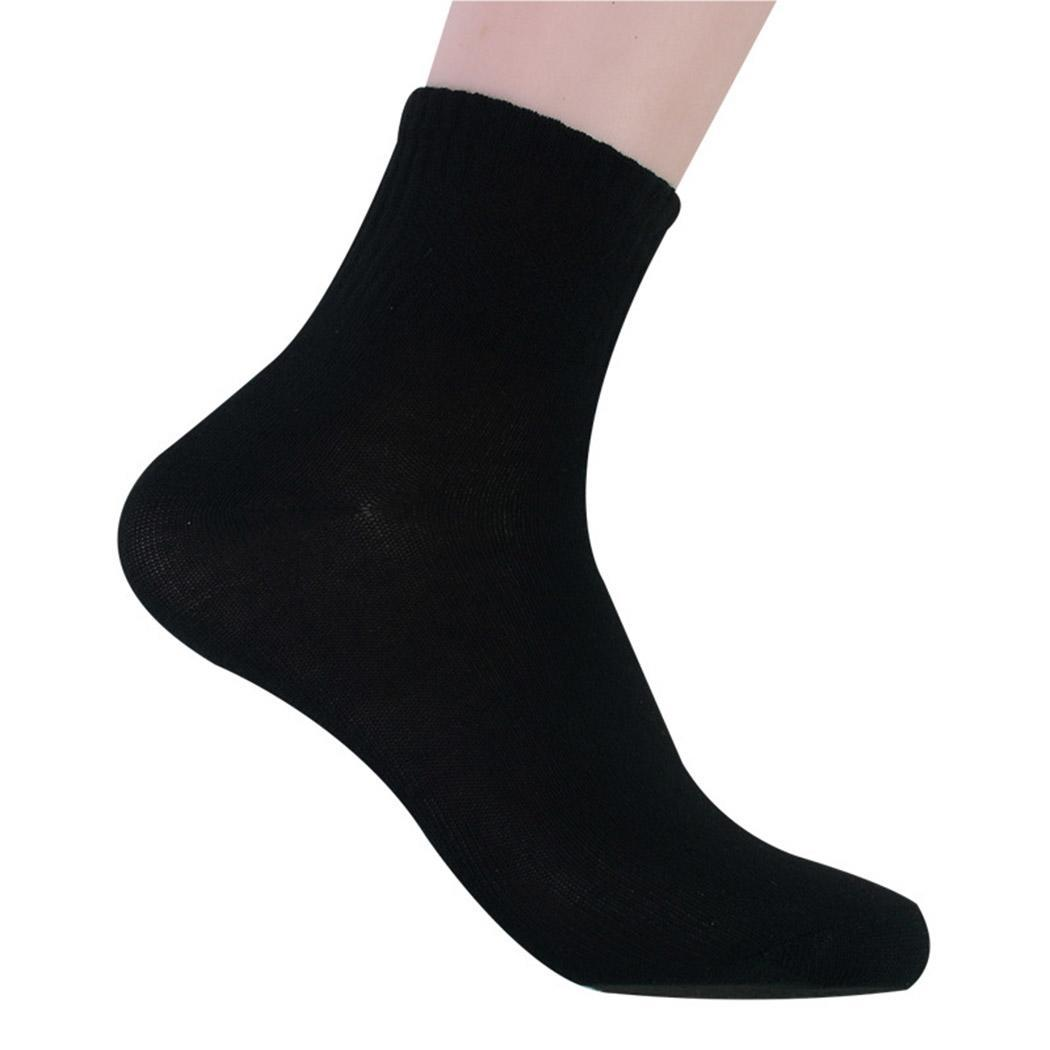 Knee Solid One Seasons Gray Size Sock High 4 Cotton Socks Soft Pairs Mens White All Casual Ankle Black Cut Sporting Men