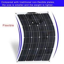 Новый 80 Вт Водонепроницаемый Портативный монокристаллический Гибкая Панели солнечные модуль открытый Солнечные энергетические установки для выключения сетки на колесах лодка