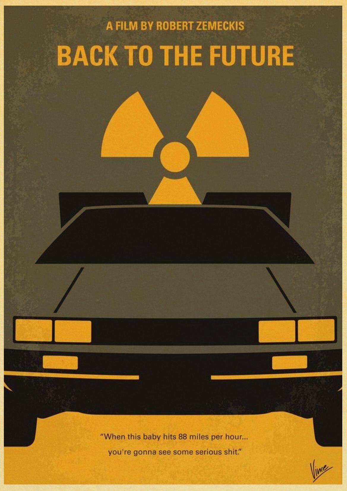 HTB1wvmIc26TBKNjSZJiq6zKVFXaO Sci-fi Back to The Future Film Propaganda Retro Kraft Poster Decorative DIY Wall Canvas Sticker Home Bar Art Posters Decor