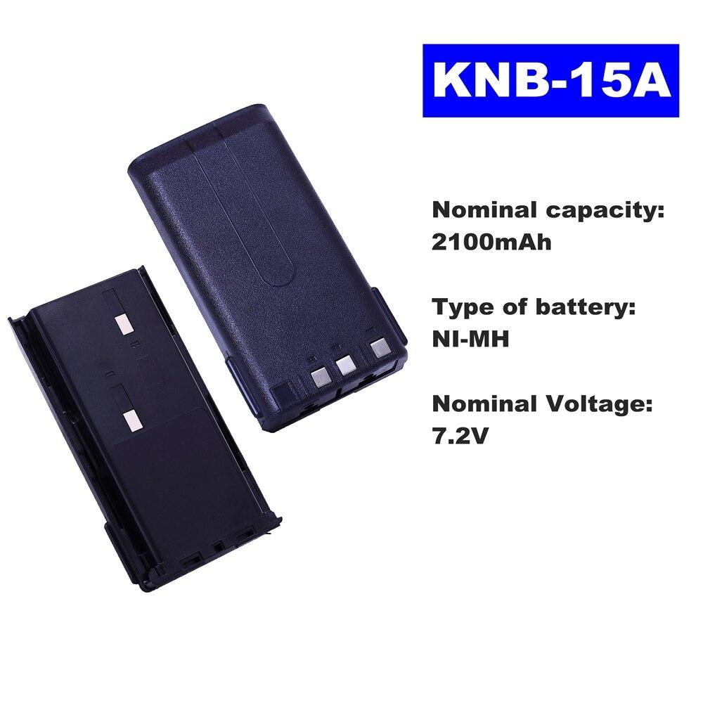 7.2V 2100mAh NI-MH Radio Battery KNB-15A For Kenwood Walkie Talkie TK-2107/3107/2100 TK-278/378G TK260/370/272 Two Way Radio
