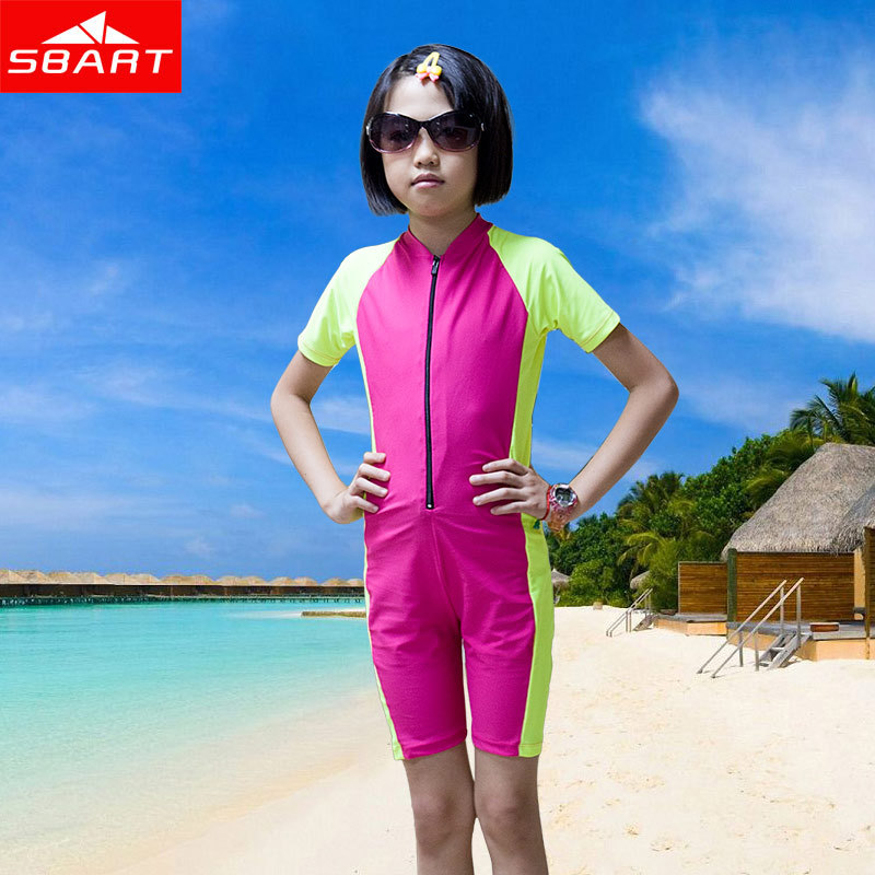 c9dd4e195d SBART Wetsuit Kids Shorty Wet Suit For Swimming Surfing Short Sleeve Lycra  Skin Boys Girls Scuba Diving Suit Child Wetsuit L XL-in Wetsuit from Sports  ...