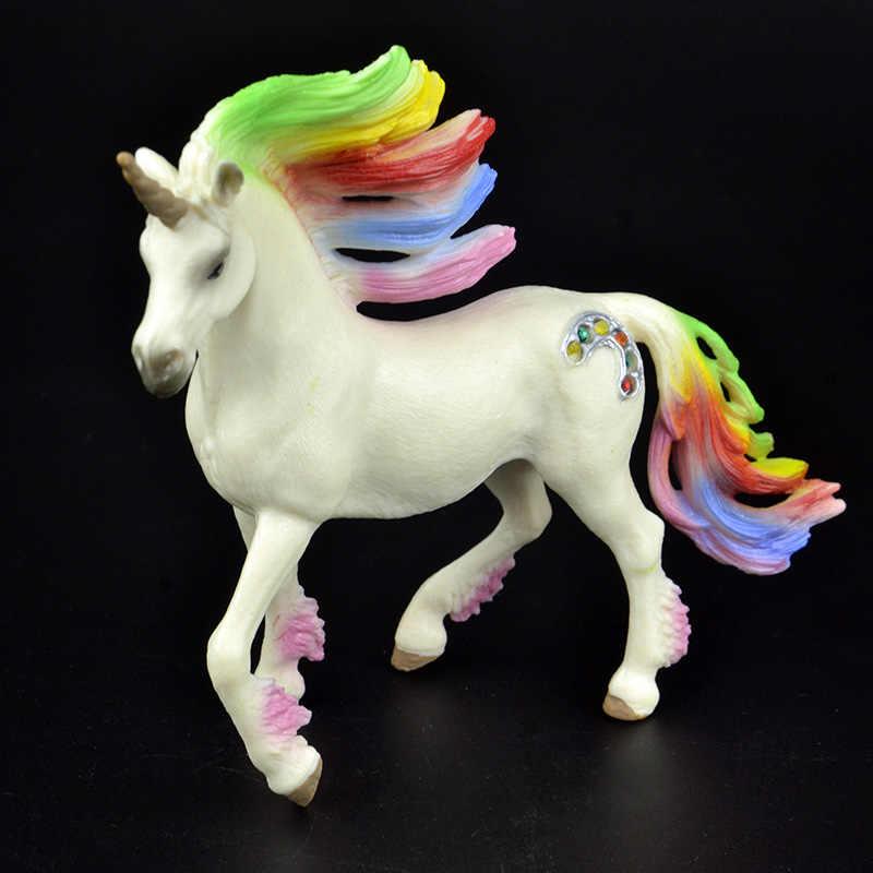 جديد وصول 3 أنواع خرافة خرافية مخلوق أسطورة قوس قزح يونيكورن تحلق الحصان الشكل ألعاب تعليمية تمثال الاطفال هدية