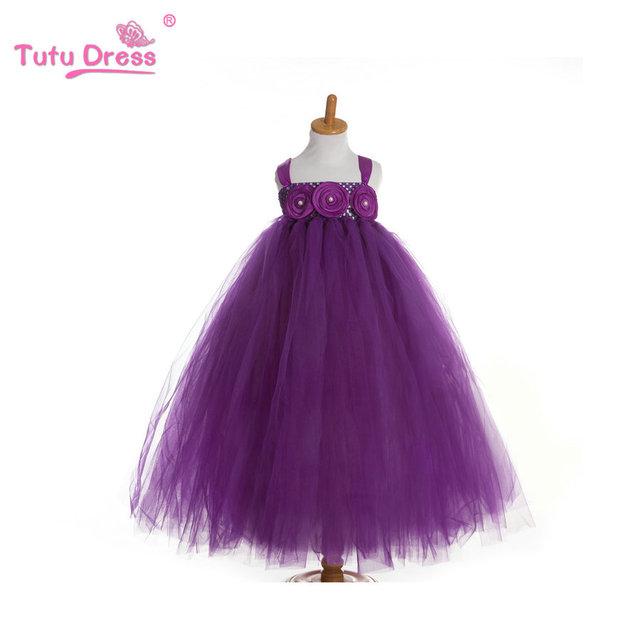 Niña de las flores Vestidos de Noche Vestidos Del Desfile para Las Niñas Niños Tutu Vestido de Los Cabritos De La Boda Ropa