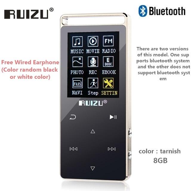 e070fc3ed698 Original RUIZU D01 bluetooth MP3 reproductor de 8 GB pantalla táctil de 1