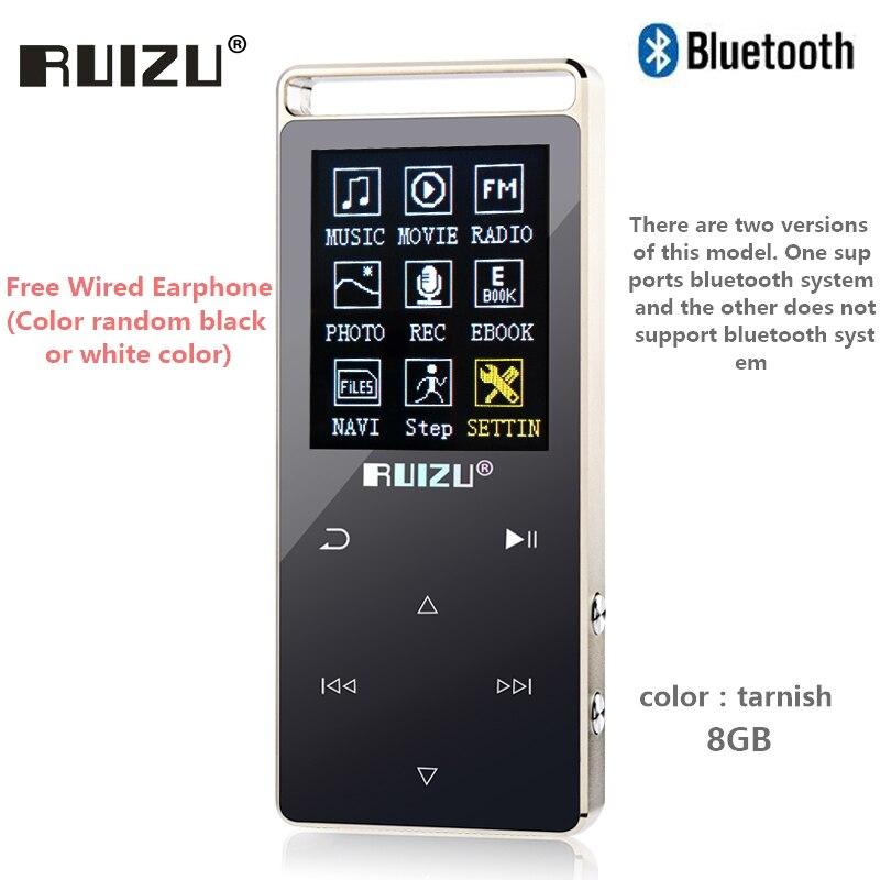 Original RUIZU D01 bluetooth MP3 Player 8GB Touch Screen 1.8
