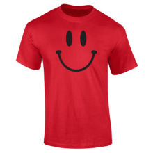 Mens Smiley Happy Face T-shirt S-XXL New T Shirts Funny Tops Tee Unisex 2018 Arrival MenS Fashion