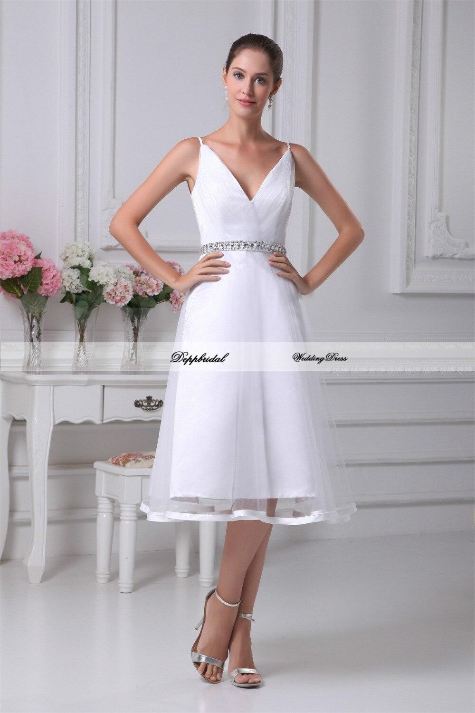 Venta al por mayor vestido de boda de Tulle red Crystal rebordear rodilla longit