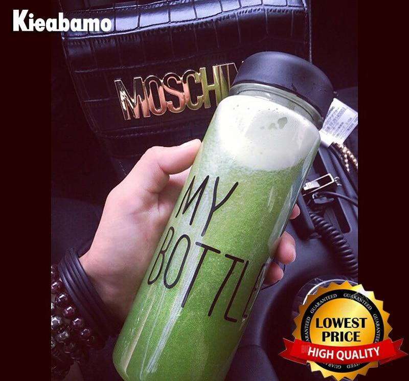 Kieabamo 500ML Best Quality 6 Colors Sports Cycling Camping Readily Space Health Lemon Juice Make Water Bottle