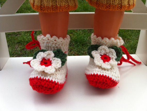 Crochet Baby Booties Handmade Baby booties baby girl pram shoes gift for baby original
