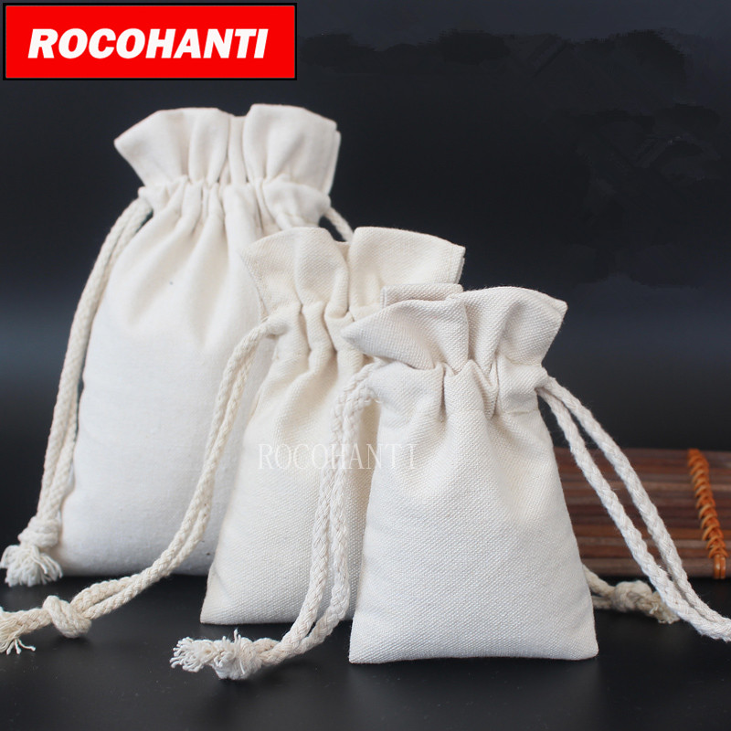 25Pcs Cotton Canvas Drawstring Bag Custom Canvas Bags Customised LOGO Printed Accept Eco Gift Bags