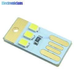 10 шт. мини ночь светодио дный USB светодиодный брелок Портативный мощность белая доска карман карты лампы светодио дный светодиодные