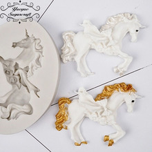Yueyue Sugarcraft Horder/unicorn silicone mold cake decorati