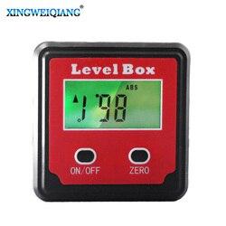 Durable digital inclinómetro espíritu nivel Transportadores ángulo medidor bisel