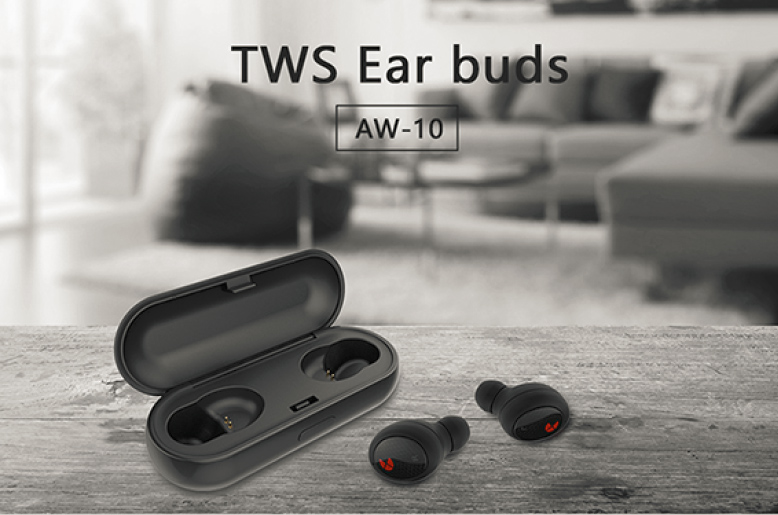 EXCITEUS AW-10 TWS 5.0 Bluetooth headphone 3D stereo wireless earphone with dual microphone Bluetooth hands-free phone calls