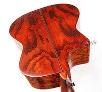 Ручная роспись vintange цвет твердой древесины акустическая электрогитара