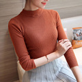abiti donna autunno inverno 2017 Spring Autumn Winter Thin Half-Turtleneck Knitted Women Sweaters and Pullovers Sueter Mujer