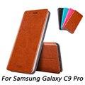 Для Samsung Galaxy C9 Pro Случае Mofi Стальная Пластина Внутри Корпуса для Microsoft Для Samsung C9 Pro Случае Флип Стиле Мобильного Телефона случае